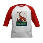 Prevent Forest Fires (Front) Kids Baseball Jersey