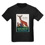 Prevent Forest Fires (Front) Kids Dark T-Shirt