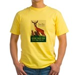 Prevent Forest Fires (Front) Yellow T-Shirt