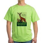 Prevent Forest Fires (Front) Green T-Shirt