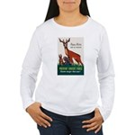 Prevent Forest Fires (Front) Women's Long Sleeve T