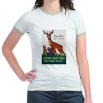 Prevent Forest Fires Jr. Ringer T-Shirt