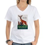 Prevent Forest Fires (Front) Women's V-Neck T-Shir