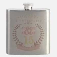 Personalized Name and Year Anniversary Flask