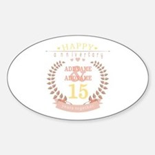 Personalized Name and Year Annivers Sticker (Oval)