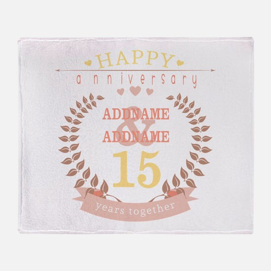 Personalized Name and Year Anniversa Throw Blanket
