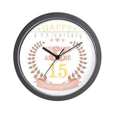 Personalized Name and Year Anniversary Wall Clock