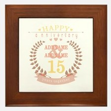 Personalized Name and Year Anniversary Framed Tile