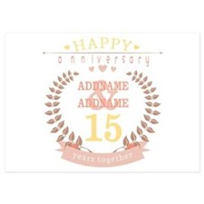 Personalized Name and Year Annivers Invitations
