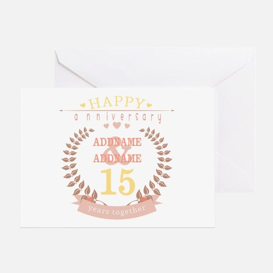 Personalized Name and Year Anniversa Greeting Card