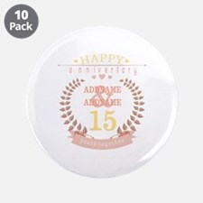 """Personalized Name and Year A 3.5"""" Button (10 pack)"""