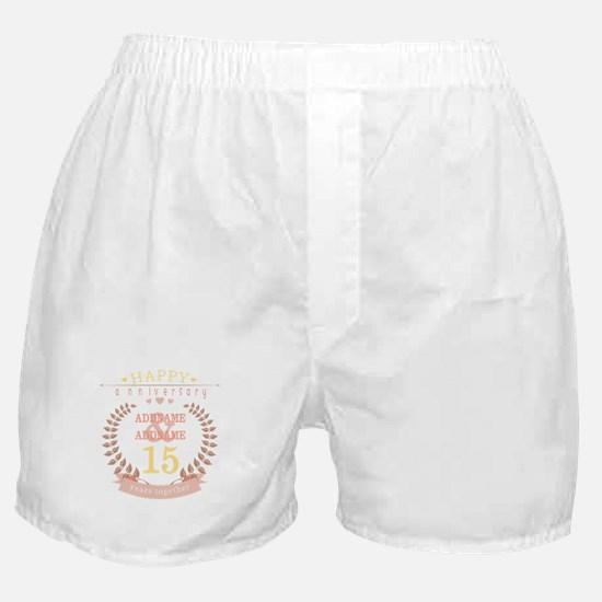 Personalized Name and Year Anniversar Boxer Shorts
