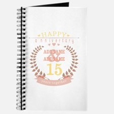 Personalized Name and Year Anniversary Journal