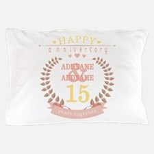 Personalized Name and Year Anniversary Pillow Case
