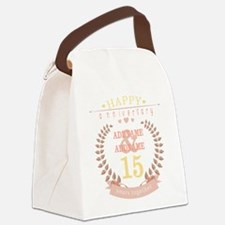 Personalized Name and Year Annive Canvas Lunch Bag
