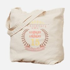 Personalized Name and Year Anniversary Tote Bag