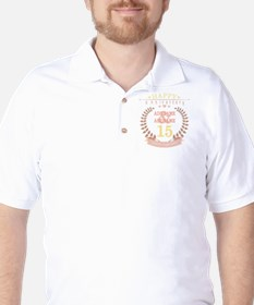 Personalized Name and Year Anniversary Golf Shirt