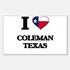 I love Coleman Texas Decal