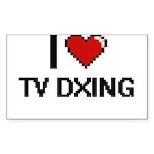 I Love Tv Dxing Digital Retro Design Decal