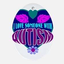 autism heart Ornament (Oval)