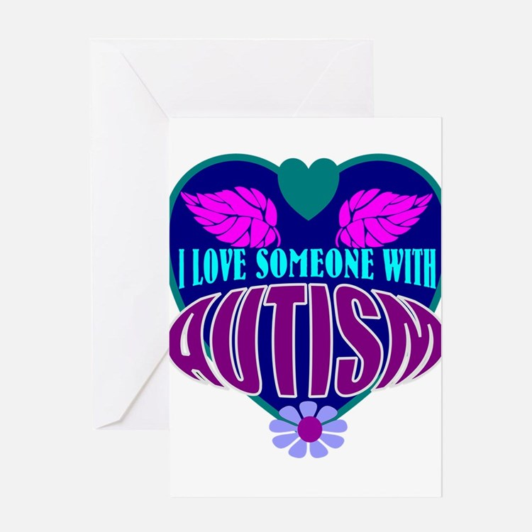 autism heart Greeting Cards
