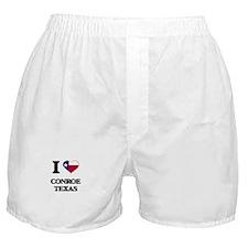 I love Conroe Texas Boxer Shorts
