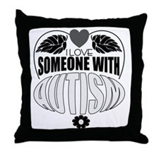cute autism Throw Pillow