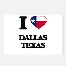 I love Dallas Texas Postcards (Package of 8)