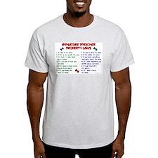 Miniature Pinscher Property Laws T-Shirt