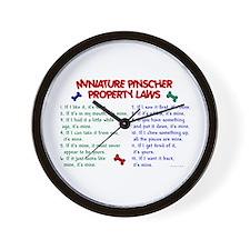 Miniature Pinscher Property Laws Wall Clock