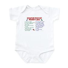 Miniature Pinscher Property Laws Infant Bodysuit