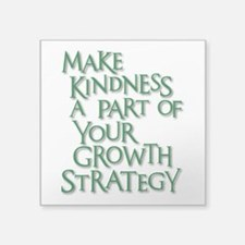 "GROWTH STRATEGY Square Sticker 3"" x 3"""