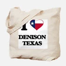 I love Denison Texas Tote Bag