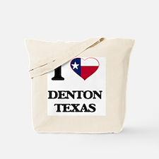 I love Denton Texas Tote Bag