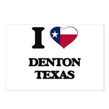 I love Denton Texas Postcards (Package of 8)