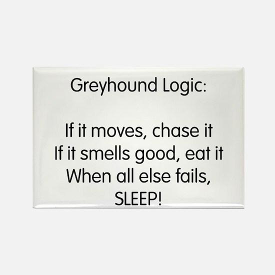 Greyhound Logic Rectangle Magnet