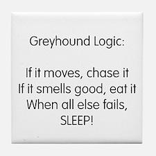 Greyhound Logic Tile Coaster