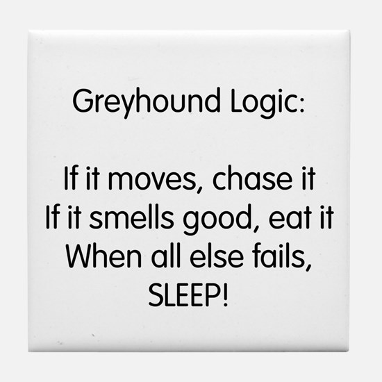 Greyhound Logic Tile Coaster