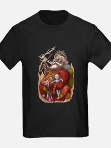 Vintage Christmas Santa Women's Cap Sleeve T-Shirt