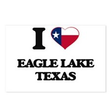 I love Eagle Lake Texas Postcards (Package of 8)