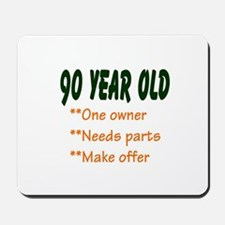 90 YEAR OLD: Mousepad