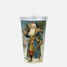 Vintage Christmas, Vic Acrylic Double-wall Tumbler