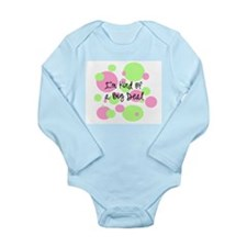 Cute Polka dot Long Sleeve Infant Bodysuit