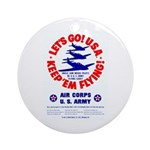 Go USA Go Army Ornament (Round)