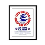 Go USA Go Army Framed Panel Print