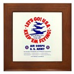 Go USA Go Army Framed Tile