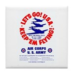 Go USA Go Army Tile Coaster