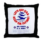 Go USA Go Army Throw Pillow