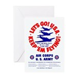 Go USA Go Army Greeting Card
