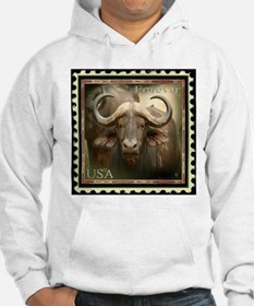 African Cape Buffalo Stamp Hoodie